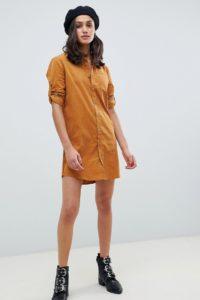 Wednesday's Girl - Hemdkleid aus Cord - Gelb - Farbe:Gelb