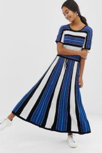HUGO - Kleid mit Streifenmuster - Schwarz - Farbe:Schwarz