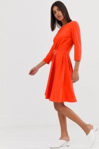 2NDDAY - June - Hängerkleid mit Gürtel - Rot - Farbe:Rot