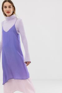 2NDDAY - Doppellagiges Trägerkleid - Violett - Farbe:Violett