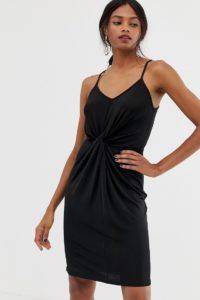 Warehouse - Anschmiegsames Trägerkleid - Schwarz - Farbe:Schwarz