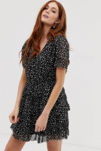 AllSaints - Illia Pippa - Minikleid - Schwarz - Farbe:Schwarz