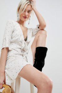 Free People - All Yours - Minikleid mit Taillenschnürung - Weiß - Farbe:Weiß