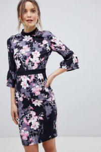 Paper Dolls - Geblümtes Kleid mit Flügelärmeln - Mehrfarbig - Farbe:Mehrfarbig
