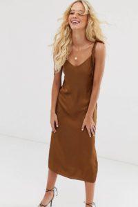 Other Stories - Braunes Kleid mit gebundenen Trägern - Braun - Farbe:Braun