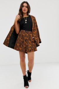 ASOS DESIGN - Anzug-Shorts mit Schlangenhautmuster - Mehrfarbig - Farbe:Mehrfarbig