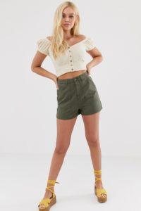 Miss Selfridge - Cargo-Shorts in Khaki - Grün - Farbe:Grün