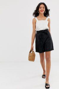 Other Stories - Schwarze Shorts mit hoher Taille - Mehrfarbig - Farbe:Mehrfarbig