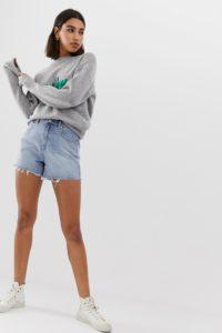 Abrand Denim - Jeans-Shorts mit offenem Saum - Blau - Farbe:Blau