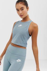Nike - Air - Kurzes Oberteil in Grau - Grau - Farbe:Grau