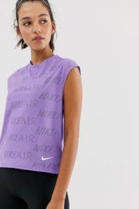 Nike Air - Violettes Tanktop - Violett - Farbe:Violett