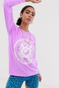 "New Girl Order - Langärmliges T-Shirt mit Oversize ""state of mind"