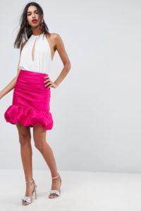 ASOS - Mini-Ballonrock mit hoher Taille - Rosa - Farbe:Rosa