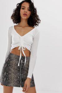 AllSaint - Rina - Shirt mit langem Arm - Weiß - Farbe:Weiß