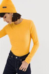 Weekday - Alice - Langärmliges Shirt - Orange - Farbe:Orange
