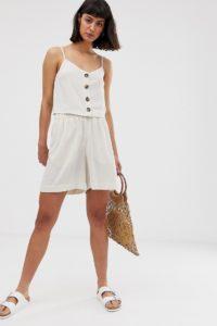 Weekday - Beiges Camisole mit Knöpfen - Beige - Farbe:Beige