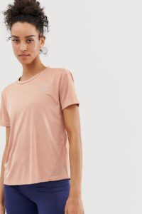 Nike Running - Miler - T-shirt in Roségold - Beige - Farbe:Beige