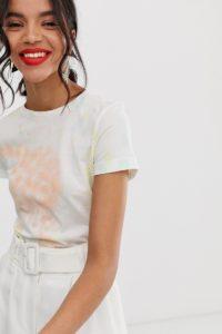 Other Stories - T-Shirt mit Batikdesign - Mehrfarbig - Farbe:Mehrfarbig