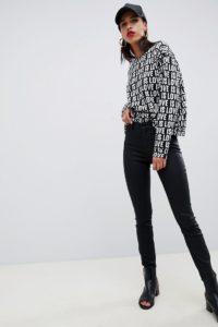 Armani Exchange - Enge Jeans - Schwarz - Farbe:Schwarz