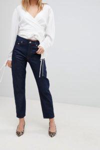 ASOS - FLORENCE - Authentische Jeans mit geradem Beinschnitt in Clean Indigo - Blau - Farbe:Blau