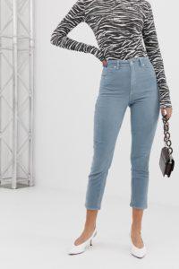 Abrand - '94 - Mom-Jeans aus Cord mit hohem Bund - Blau - Farbe:Blau