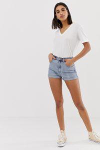 Abrand - Jeansshorts mit hoher Taille - Blau - Farbe:Blau