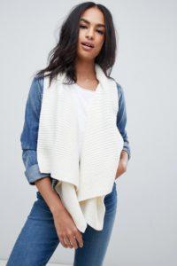 Abercrombie & Fitch - Jeansjacke mit integriertem Schal - Blau - Farbe:Blau
