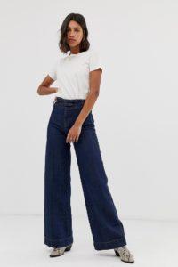 Free People - Big Bell - Jeans mit weitem Bein - Navy - Farbe:Navy