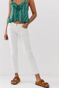 Free People - Austen - Jeans mit geradem Beinschnitt - Weiß - Farbe:Weiß