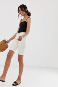 Other Stories - Jeans-Bermudas in gebrochenem Weiß - Weiß - Farbe:Weiß
