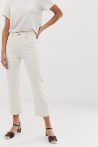 Abrand - Venice - Jeans mit geraden Bein und kurzem Schnitt - Cremeweiß - Farbe:Cremeweiß