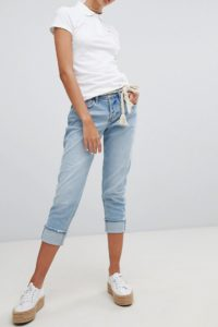 Hollister - Boyfriend-Jeans mit niedriger Taille - Grau - Farbe:Grau