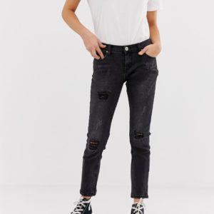 Glamorous – Jeans mit Knierissen – Schwarz