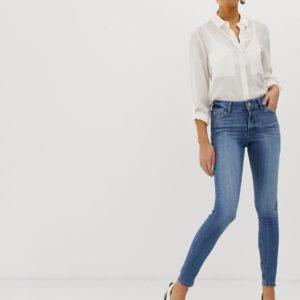 Miss Selfridge – Skinny-Jeans mittlerer Waschung – Blau