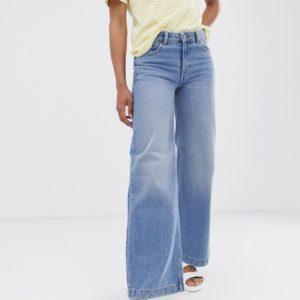 Dr Denim – Bequeme Jeans mit weitem Beinschnitt – Blau