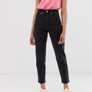 Cheap Monday – Donna – Mom-Jeans mit Bio-Baumwolle – Schwarz
