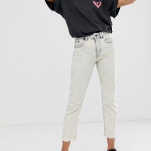 Cheap Monday – Revive – Steife, schmale, ungesäumte Jeans aus Bio-Baumwolle – Weiß