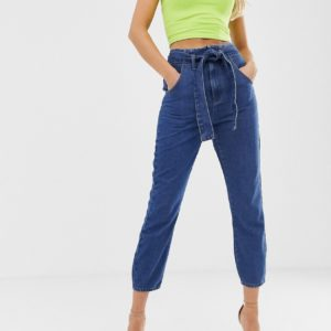 In The Style – Jeans mit Bindegürtel – Blau