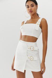 4th & Reckless - Weißer Minirock mit Schnallendetail - Weiß - Farbe:Weiß