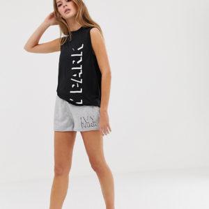 Ivy Park - Graue Shorts mit Logo - Grau - Farbe:Grau