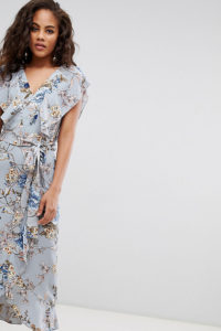 Missguided Tall - Exclusive Tall - Midikleid aus Chiffon mit Blumenmuster - Mehrfarbig - Farbe:Mehrfarbig