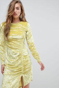 Miss Sefridge - Gerafftes Minikleid aus Samt - Mehrfarbig - Farbe:Mehrfarbig