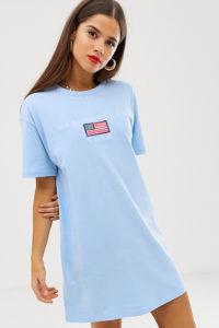 "Daisy Street - Oversize-T-Shirt-Kleid mit ""los angeles"