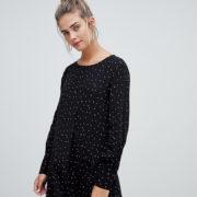Pimkie - Gepunktetes Kleid mit nach hinten abfallendem Saum - Mehrfarbig - Farbe:Mehrfarbig