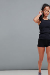 ASOS 4505 Petite -Training Booty-Shorts - Schwarz - Farbe:Schwarz