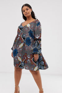 Simply Be - Hängerkleid mit Paisleymuster - Mehrfarbig - Farbe:Mehrfarbig