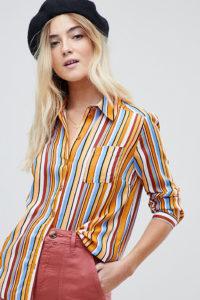 Miss Selfridge - Bunt gestreiftes Hemd - Mehrfarbig - Farbe:Mehrfarbig