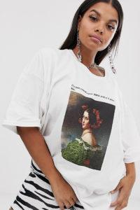 New Girl Order Curve - Boyfriend-T-Shirt mit Grafikprint - Weiß - Farbe:Weiß
