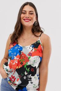 Simply Be - Sommerliche Camisole mit Blumenmuster - Mehrfarbig - Farbe:Mehrfarbig
