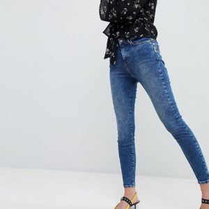 New Look - Lift-and-Shape-Jeans in blauer Rinse-Waschung - Blau - Farbe:Blau